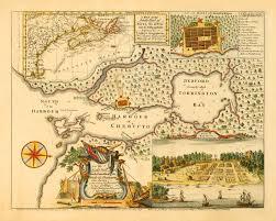 plan view 1750 map of halifax nova scotia canada w plan u0026 view i