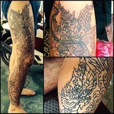 naga tattoo thailand thai style tattoo naga and garuda full leg tattoo art pinterest