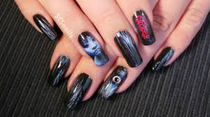 the grudge u0027 movie inspired nail art tutorial can be found on