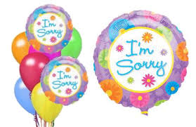 balloons in a box sorry balloons i am sorry balloon bouquets sorry balloon in a
