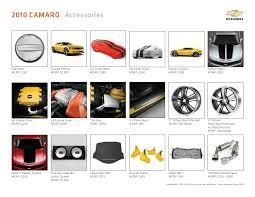 accessories for 2010 camaro 2010 chevrolet camaro accessories brochure