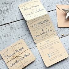 folded wedding invitations tri folded recycled wedding invitation by paper and inc