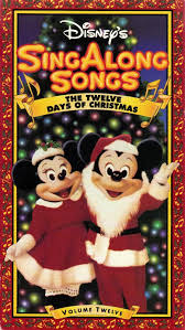 disney sing along songs the twelve days of christmas christmas
