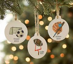 sports personalized ornaments pottery barn