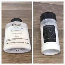 Bedak Rcma review ben nye neutral set colorless powder vs rcma no color