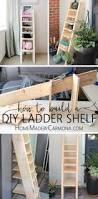 Diy Ladder Shelf Shelves Tutorials by Diy Ladder Tutorial Decorative Ladders Ladder And Ladder Decor