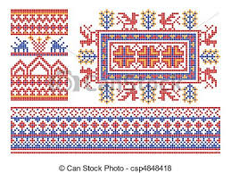 vector of russian ornament the complete set of patterns