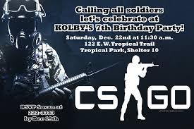 Online Invitation Card Maker Software Counter Strike Global Offensive Csgo Birthday Invitations