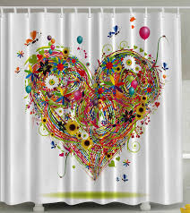 Multi Color Shower Curtains Whimsical Shower Curtains Brings Joy To Your Heart Haven Designs