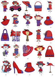 free halloween gift tags red hat society return address labels favor tags gift buy 3 get 1