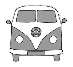 black volkswagen bus vw bus printable
