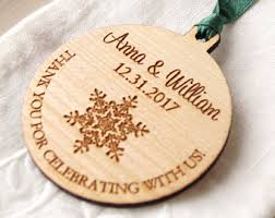 personalized ornaments wedding winter wedding favor etsy