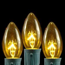 25 pack of c9 yellow ceramic opaque replacement christmas light