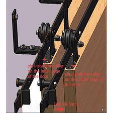 Track For Sliding Barn Door Winsoon 5 16ft Bypass Sliding Barn Door Hardware Double Track Kit