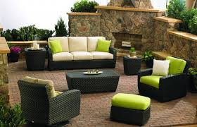 Traditional Outdoor Furniture by Traditional Patio Furniture With Dark Black Wicker Orlando Chairs