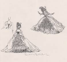 costume sketch cinderella r michelson galleries