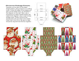 miniature christmas themed gift boxes to print out source