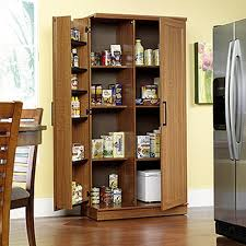 Free Standing Kitchen Pantry Furniture Sauder Home Plus Sienna Oak Storage Cabinet 411965 The Home Depot