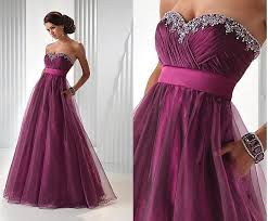 dress to party prom dress one shoulder a line purple prom dress jeweled