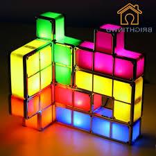 Diy Led Desk L Aliexpress Buy Diy Tetris Puzzle Light Stackable Led Desk
