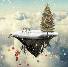 create a christmas tree floating island in photoshop photoshop