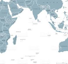 Ocean Map World by Indian Ocean Political Map Stock Vector Art 824621450 Istock