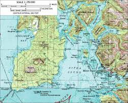 Alaska On A Map by Mount Edgecumbe Topo Map Mt Edgecumbe Alaska U2022 Mappery
