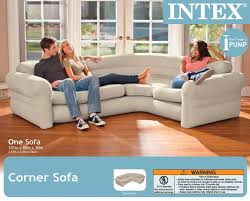 corner couch intex inflatable corner living room neutral sectional sofa 68575ep