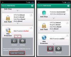 android protection what is web protection in kaspersky tablet security android os