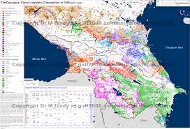 Caucasus Mountains On World Map by The Gulf 2000 Project Sipa Columbia University