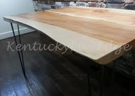 Dining Table Natural Wood Hand Made Live Edge Dining Table Kitchen Table Breakfast Table