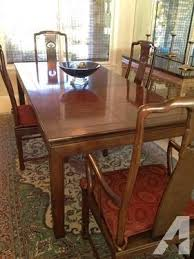 Asian Dining Room Sets Henredon Pan Asian Dining Room Set With China Cabinet For Sale