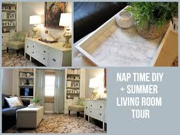 nap time diy summer living room tour youtube