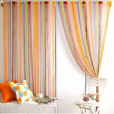 rainbow color line curtain indoor upscale decor room divider strip