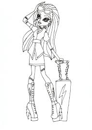 monster high characters coloring pages cecilymae