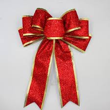 christmas bows for sale 3 color large silver gold sparkling glitter christmas ribbon bow