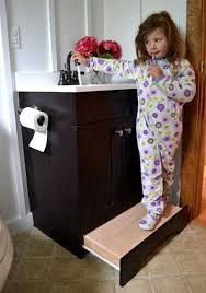 step stool for bathroom sink diy no more unsightly step stools always in the way how to turn