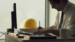 civil engineer working with sketch pen tablet in architecture