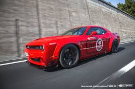 widebody muscle cars 900hp wide body dodge challenger hellcat is pure evil