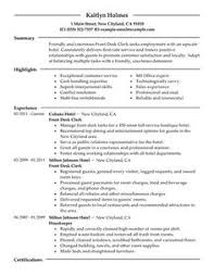 Front Desk Sample Resume by Cover Letter Front Desk Hotel Clerk Free Cover Letter Samples To