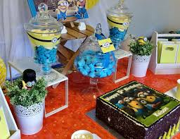 Minions Candy Buffet by Despicable Me Minions Birthday