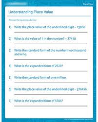 understanding place value u2013 free place value worksheets for 4th