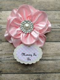 corsage de baby shower shabby chic light pink to be corsage it s a girl