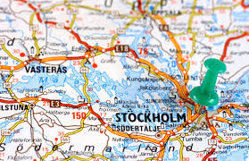 Push Pin Map Stockholm In Sweden Europe Push Pin On An Old Map Showing Travel