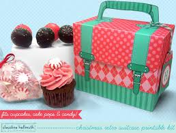 christmas cake pop and cupcake box holds cookies candy