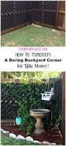 how to transform a boring backyard corner for little money