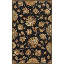 The Home Depot Area Rugs Floral 6 X 9 Area Rugs The Home Depot Within Black Rug Design 8