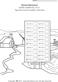 division worksheets divide numbers by 1 to 5