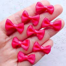 fabric ribbon satin bow embellishments 20mm fabric ribbon bows