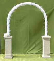 wedding arch entrance white wedding arch on sandstone pedestals for hire rent or